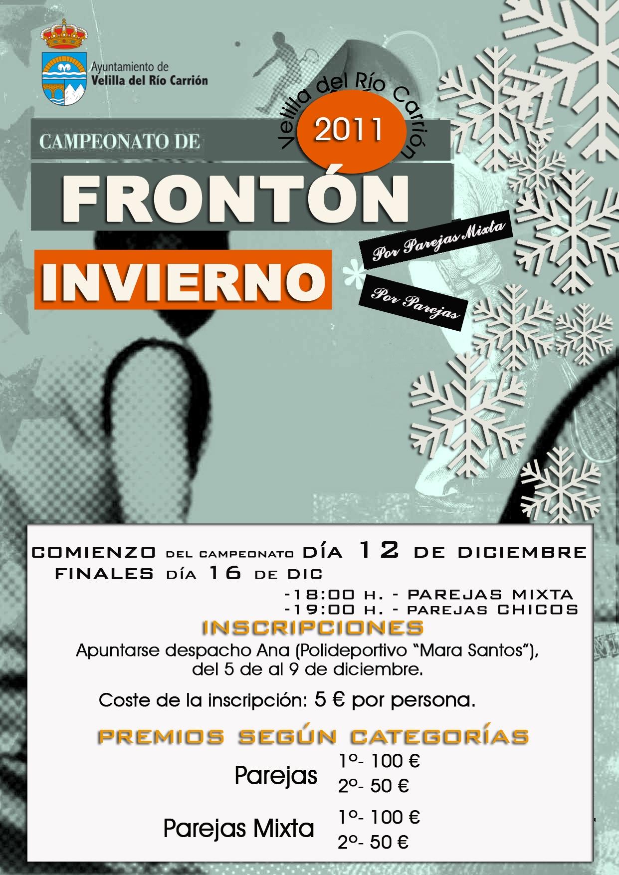CAMPEONATO DE FRONTÓN DE INVIERNO 2011