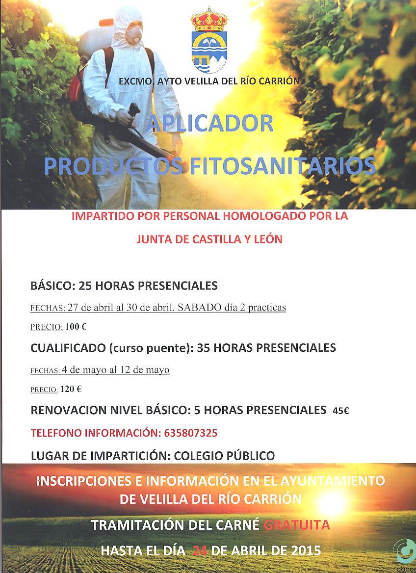 CURSO APLICADOR PRODUCTOS FITOSANITARIOS