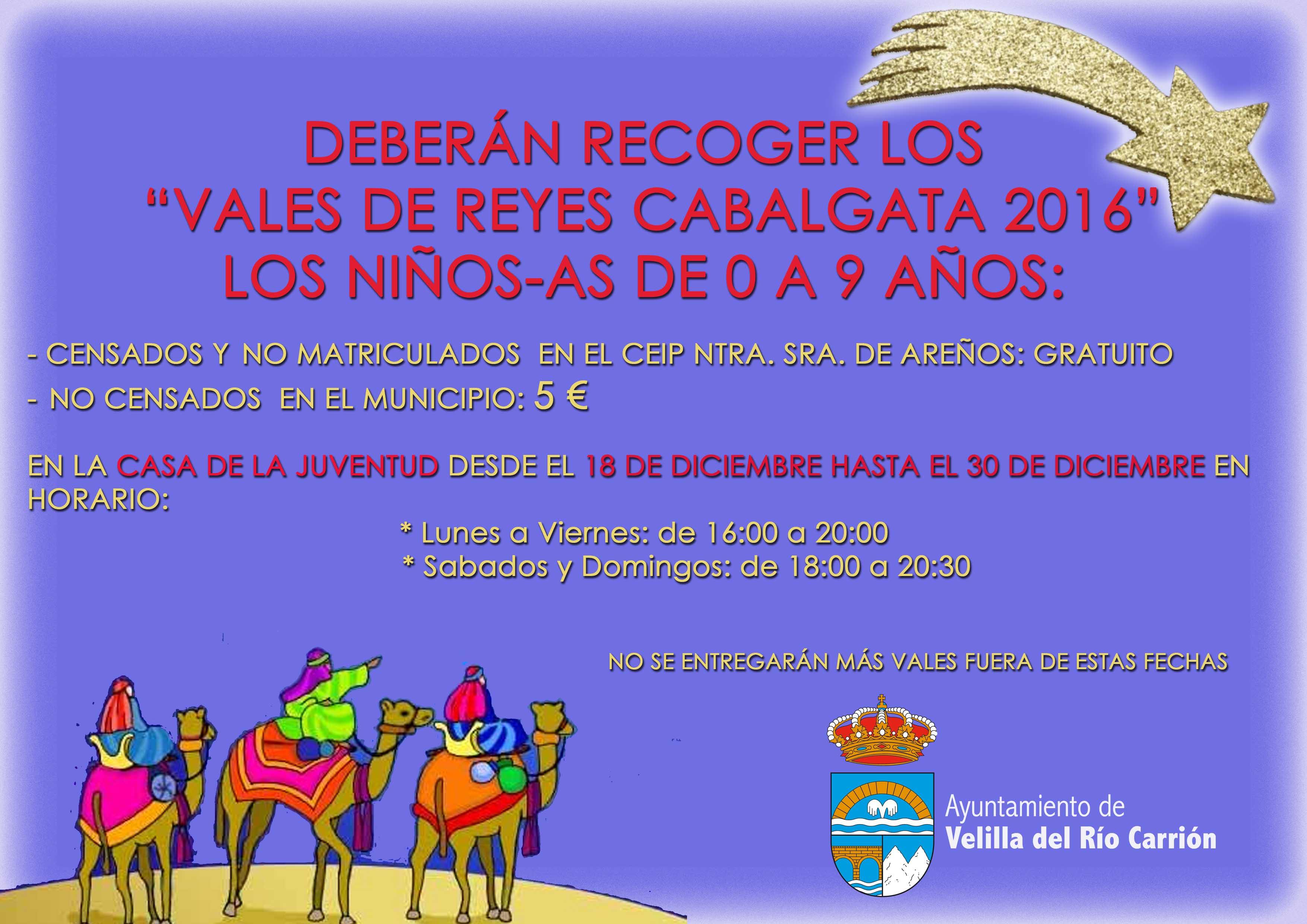 RECOGIDA VALES REGALO CABALGATA